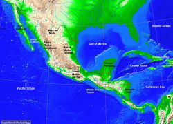Central america physical map from alearningfamily 9