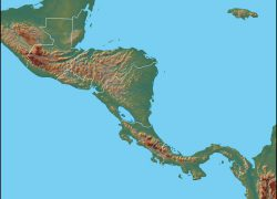 Central America Physical Map: Central america physical map from geology 1