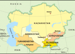 Central Asia Map: Central asia map from researchgate 1