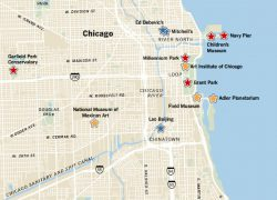 Chicago on a map from nytimes 9