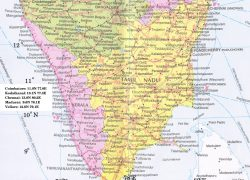 Coimbatore in india map from in 7