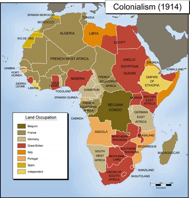 Colonial africa map from pinterest 1