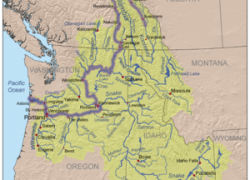 Columbia river on map from en 3