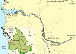 Columbia river on map from researchgate 6