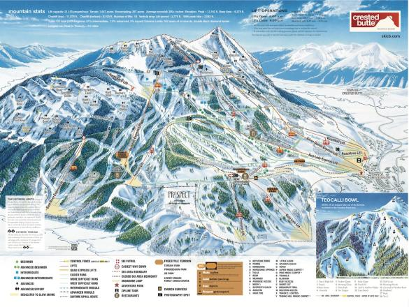 Crested butte trail map from onthesnow 1