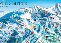 Crested butte trail map from snowbrains 7