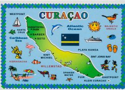 Curacao map from amazon 6
