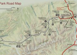 Denali National Park Map: Denali national park map from nps 1