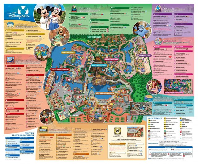Disney Sea Map