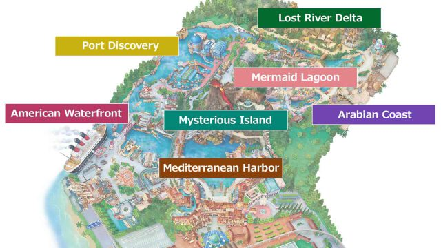 Disney sea map from tokyodisneyresort 1