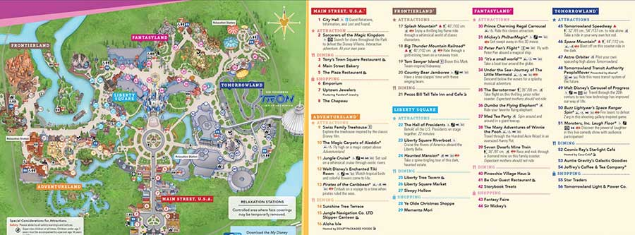 Disney World Map 2020 From Wdwinfo 1