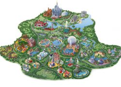 Disney world map from disneyparks 9
