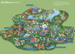 Disney world map from pinterest 2