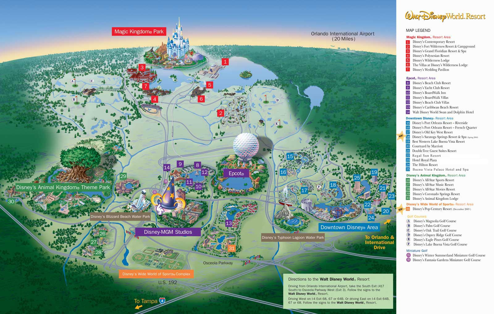 Disney World Map From Wdwinfo 1