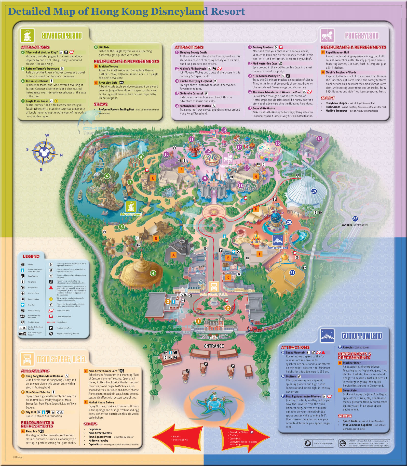 Disneyland Hong Kong Map From Chinatouristmaps 1