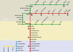 Dubai Metro Map: Dubai metro map from dubai online 1