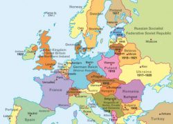 Europe After Ww1 Map: Europe after ww1 map from diercke 1