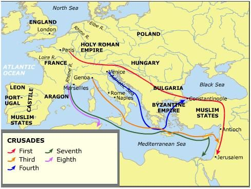 First Crusade Map