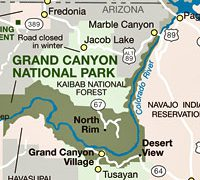 Grand canyon on us map from nps 8