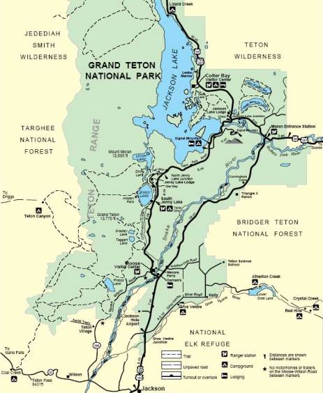 Grand Teton National Park Map