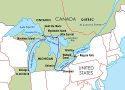 Great lakes map from gonext 7