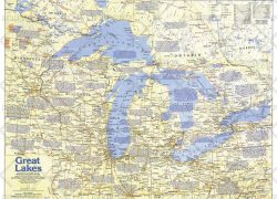 Great lakes map from mapshop 8