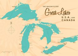 Great lakes map from muralsyourway 3