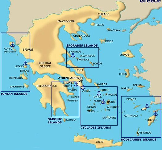 Greek Islands Map