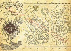 Harry Potter Map: Harry potter map from amazon 2
