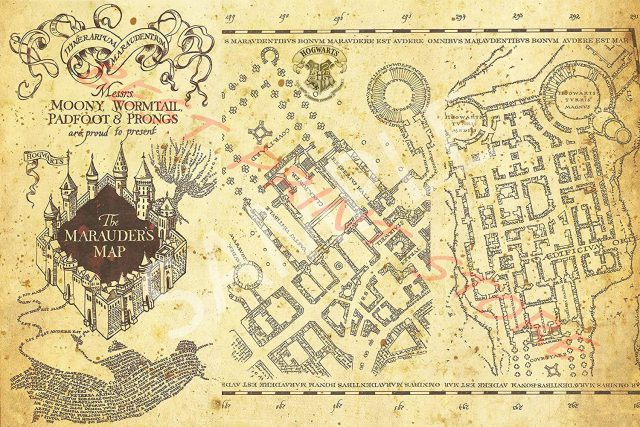 Harry potter map from amazon 2