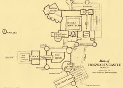 Hogwarts Castle Map: Hogwarts castle map from pinterest 2
