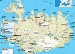Iceland Map: Iceland map from mapsofworld 1