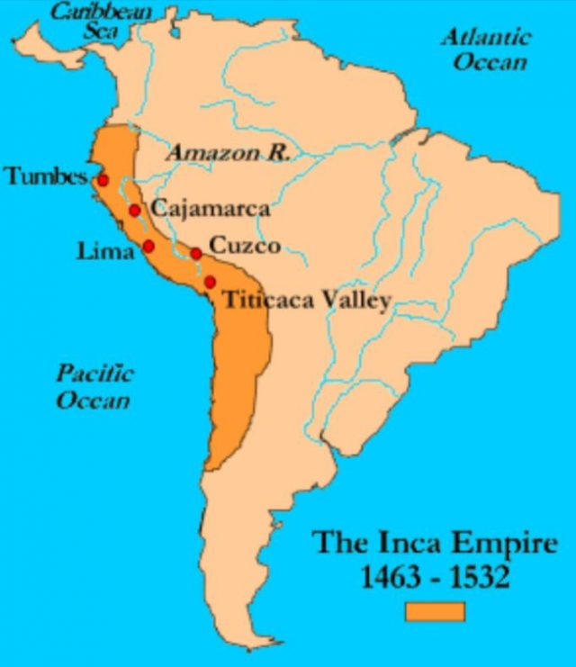 Inca Empire Map