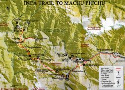 Inca trail map from incatrailreservations 6