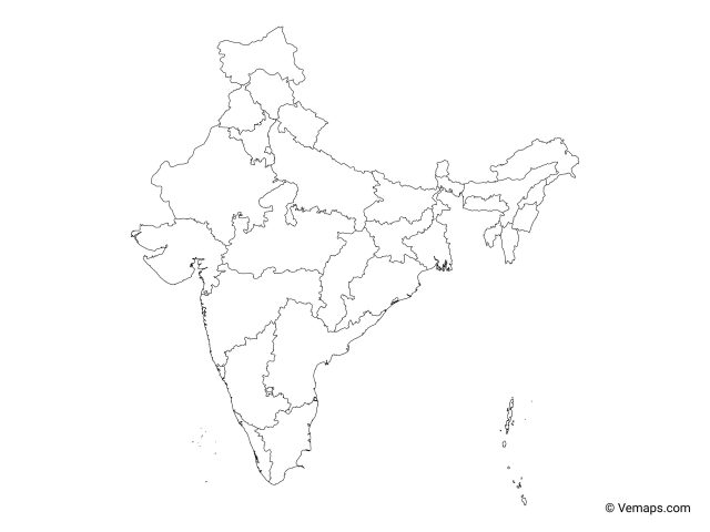 India Map Outline