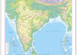 India physical map from amazon 9