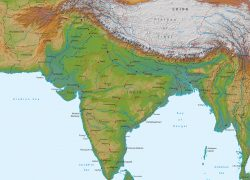 India physical map from geographicguide 4