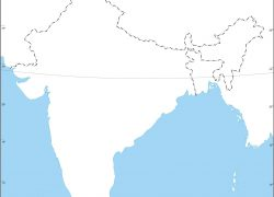 India physical map from offikart 7
