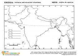 India physical map from projectsforschool 8