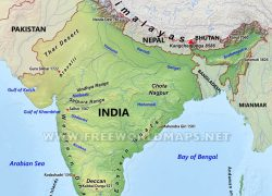 India physical map from terrortrendsbulletin 5