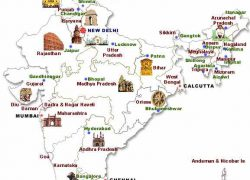 India Tourist Map: India tourist map from in 1