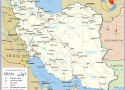 Iran Map: Iran map from nationsonline 1