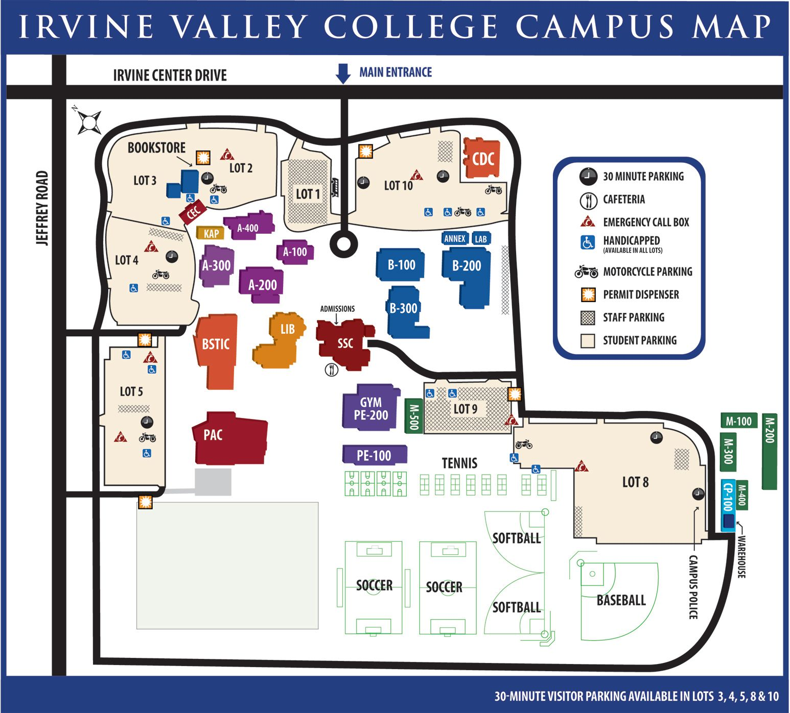 Irvine Valley College Map From Pinterest 1