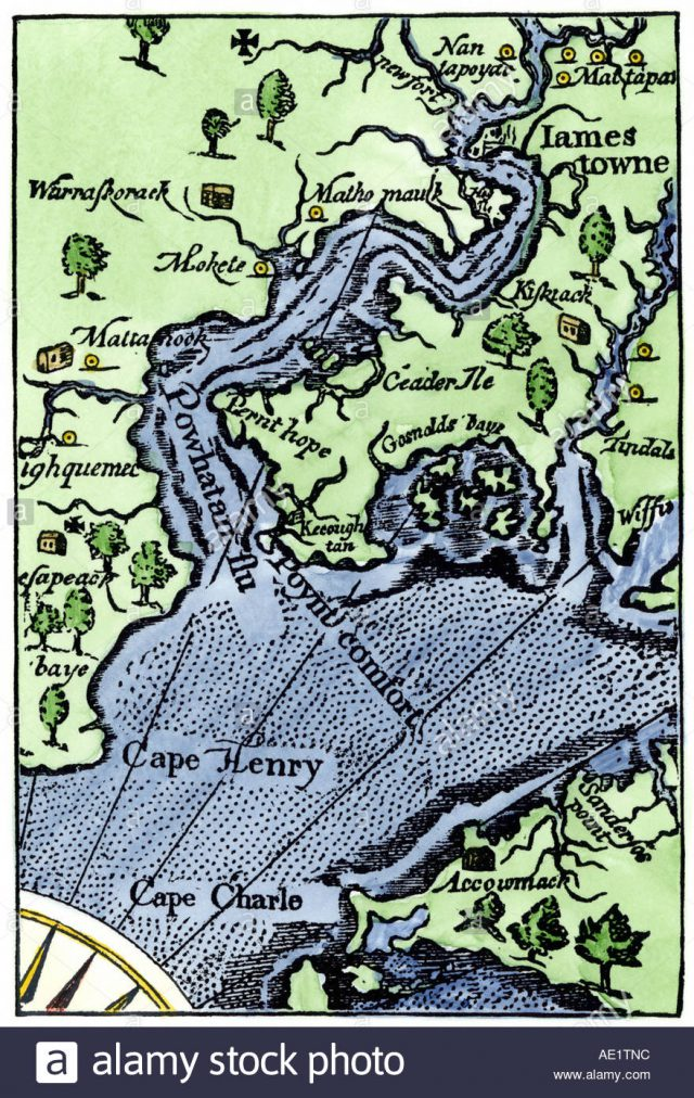 Jamestown Colony Map