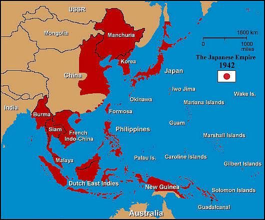 Japan ww2 map from pinterest 1
