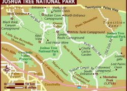 Joshua tree national park map from lonelyplanet 4