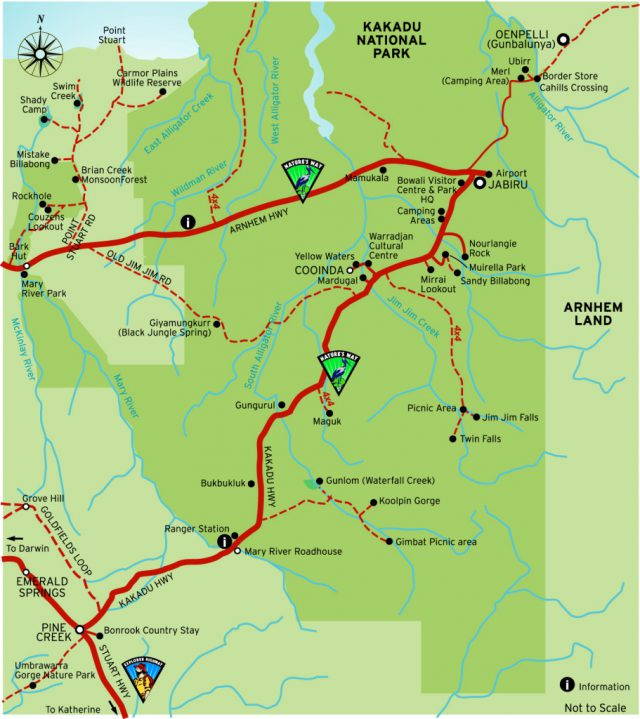 Kakadu national park map from kakadutoursandtravel 1