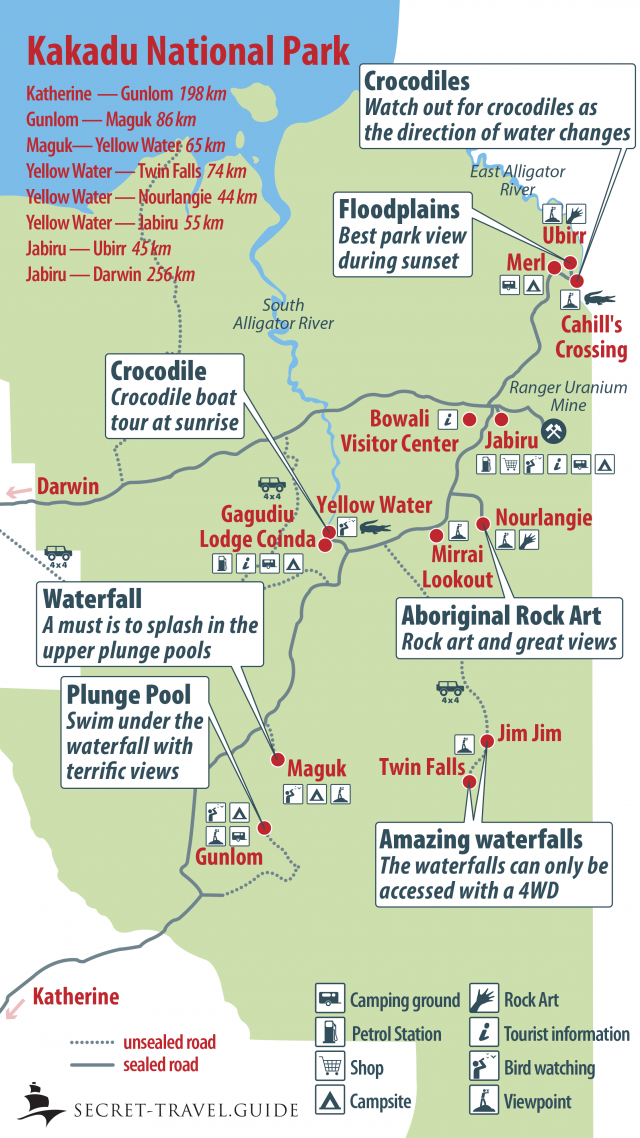 Kakadu National Park Map