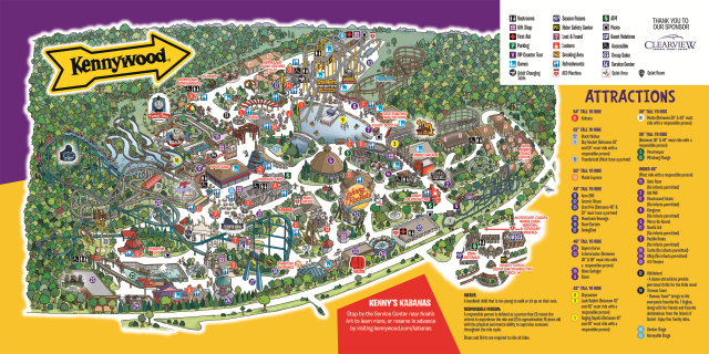 Kennywood map from kennywood 1