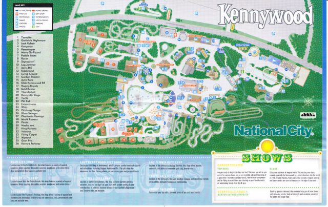 Kennywood Map
